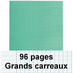 Cahier polypro 24x32 cm 96 pages piqure seyès turquoise