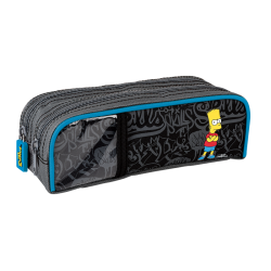 Trousse carrée Bart Simpson 2 compartiments 22 cm