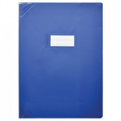 Protège-cahiers A4 bleu opaque CALLIGRAPHE