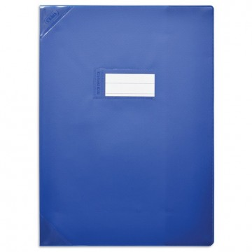 Protège-cahiers 24X32 bleu opaque CALLIGRAPHE