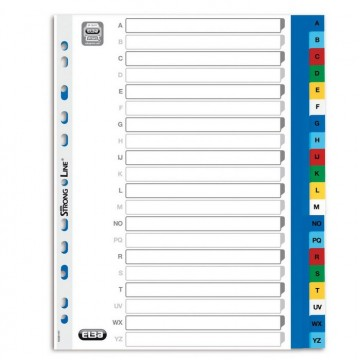 Intercalaires alphabétiques A4 20 positions polypro ELBA