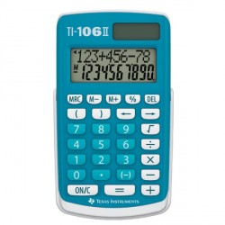 Calculatrice école primaire TI-106 II TEXAS INSTRUMENTS