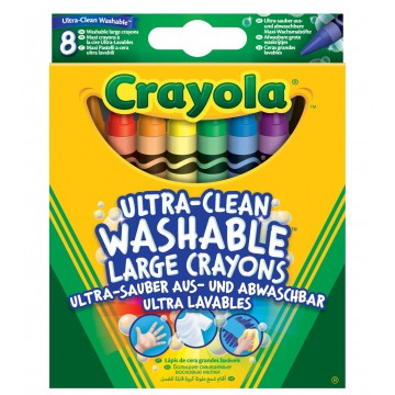 Pochette de 8 gros crayons à la cire lavable Crayola