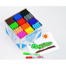 Schoolpack de 144 feutres à dessiner lavables Crayola