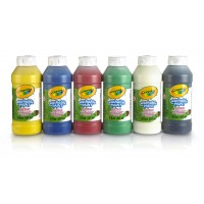 Pack de 6 bouteilles 237ml de peinture lavable Crayola
