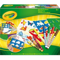 Kit créatif Jeux de Pochoirs Crayola