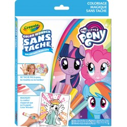 Kit de coloriage 18 pages Color Wonder sans tâche My Little Poney Crayola