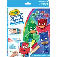 Kit de coloriage 18 pages Color Wonder sans tâche Pjmasks Crayola