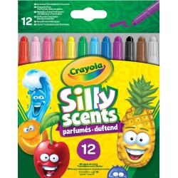 Pochette de 12 crayons à la cire rétractables et parfumés Silly Scents Crayola