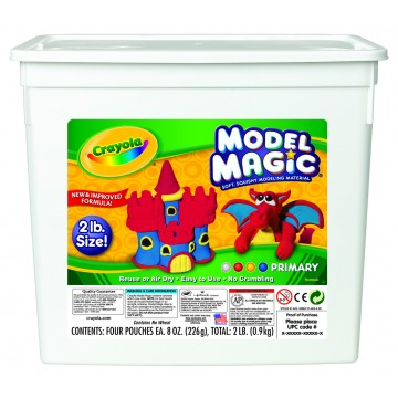Sceau de pâte à modeler Model Magic 4 coloris Crayola