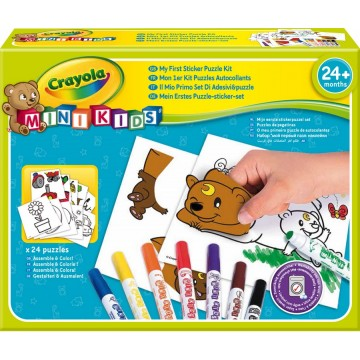 Mon premier kit puzzle autocollant Minikids Crayola
