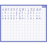Ardoise effaçable 21x26,5cm seyes Alphabet recto et verso Bouchut
