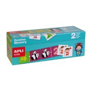 Boîte duo 2 jeux dominos et memory Apli Kids