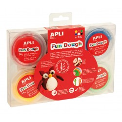 Mallette pâte à modeler Fun Dough 6 couleurs 14g Apli Kids