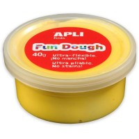 Pot de pâte à modeler Fun Dough 40g jaune Apli Kids