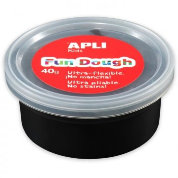 Pot de pâte à modeler Fun Dough 40g noir Apli Kids