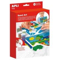 Kit de 4 cartes à sable + 10 pots de sable Apli Kids