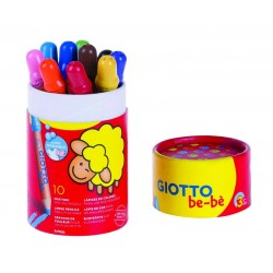 Pot de 10 crayons de couleur Maxi Be-Bé Giotto