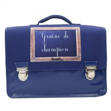 Cartable bleu 1 compartiment 39 cm Graine de champion Miniséri