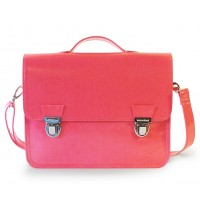 Mini sac cartable 1 compartiment 27 cm rose Miniséri