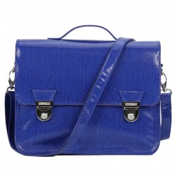 Mini sac cartable 1 compartiment 27 cm bleu Miniséri