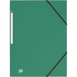 Carnet piqure polypro 11X17 96P 5X5 jaune CONQUERANT