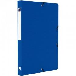 Cahier polypro 24X32 cm 96 pages piqure seyès bleu marine