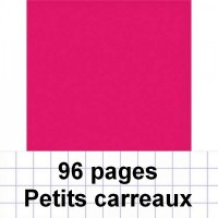 Cahier polypro 24X32 cm 96 pages piqure 5x5 rose