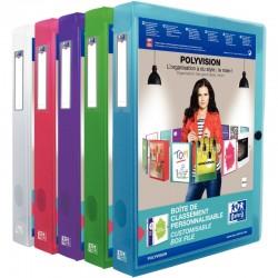 Trieur 3 rabats + élastique 8 positions polypro assortis