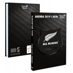 Agenda scolaire 12x17cm All Blacks 2019-2020