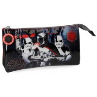 Trousse rectangulaire 3 compartiments 22cm Star Wars VIII