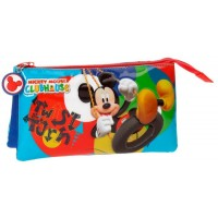 Trousse rectangulaire 3 compartiments 22cm Mickey Twist