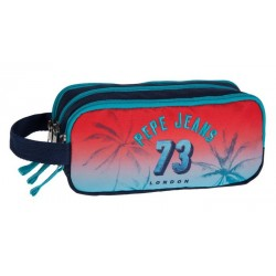 Trousse rectangulaire 3 compartiments 22cm Pepe Jeans Dario