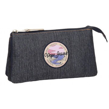 Trousse rectangulaire 3 compartiments 22cm Pepe Jeans Yelena