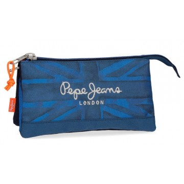 Trousse rectangulaire 3 compartiments 22cm Pepe Jeans Fabio