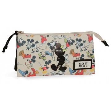 Trousse rectangulaire 3 compartiments 22cm Mickey True Original