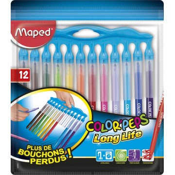 Sachet de 12 feutres Color Peps Long Life Innovation Maped