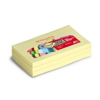 Lot de 12 blocs repositionnables 38X51MM jaune