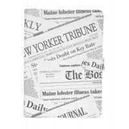 """Etui folio simili cuir tablette 9-10"""" Newspapers Akashi"""