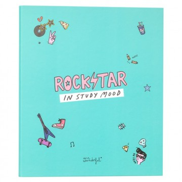 Classeur rigide 4 anneaux Rockstar in study mood Mr Wonderful