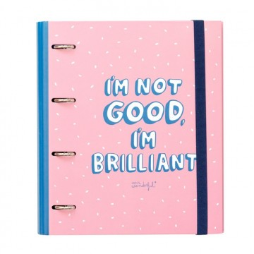 Classeur rigide 4 anneaux I'm not good. I'm brilliant ! Mr Wonderful