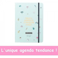 Agenda bullet 21,5x15cm Projets, gribouillis et un million d'idées Mr Wonderful
