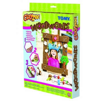 Boîte de pâte à modeler aspect bois Clayzee Tomy