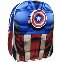 Sac à dos 3D 1 compartiment 33cm Captain America Marvel