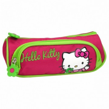Trousse triangle 2 compartiments Hello Kitty