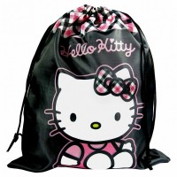 Sac de piscine noir 37cm Hello Kitty