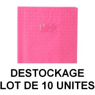 Déstockage - Lot de 10 protège-cahiers A4 rose Clairefontaine
