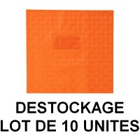 Déstockage - Lot de 10 protège-cahiers A4 orange Clairefontaine