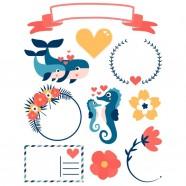 Déstockage - Lot de 10 protège-cahiers A4 jaune Elba Modling