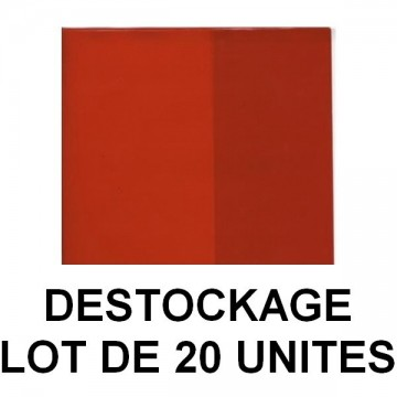 Déstockage - Lot de 20 protège-cahiers A4 cristal rouge